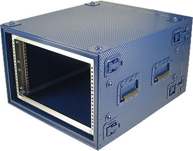 Blue Rigidized Aluminum Rackmount Case